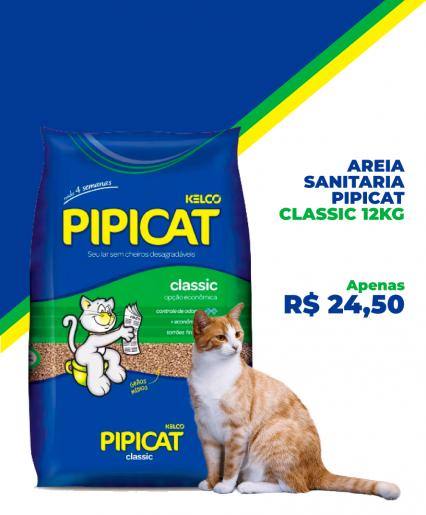 AREIA SANITARIA PIPICAT CLASSIC 12KG