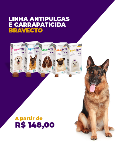 ANTIPULGAS E CARRAPATICIDA BRAVECTO