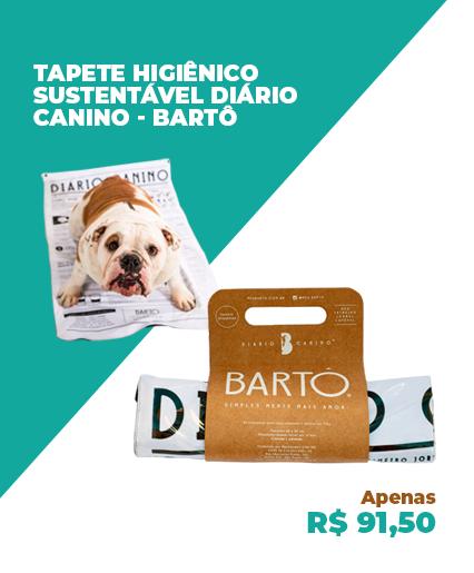 TAPETE HIGIÊNICO SUSTENTÁVEL DIÁRIO CANINO 60X90 CM BARTÔ