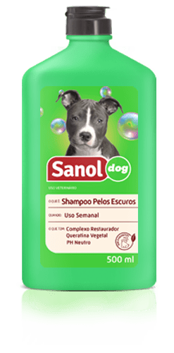SANOL DOG SHAMPOO PELOS ESCUROS 500ML