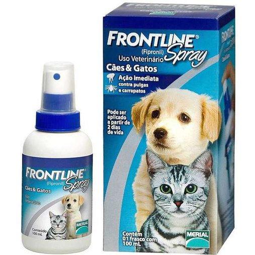 ANTIPULGAS FRONTLINE SPRAY PARA CAES E GATOS 100ML