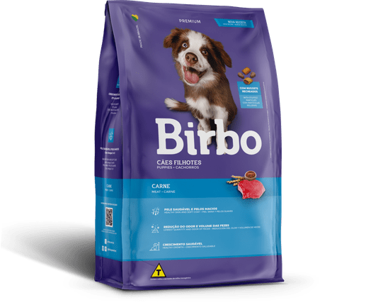 Ração Birbo para Cães Filhotes Sabor Carne 7Kg