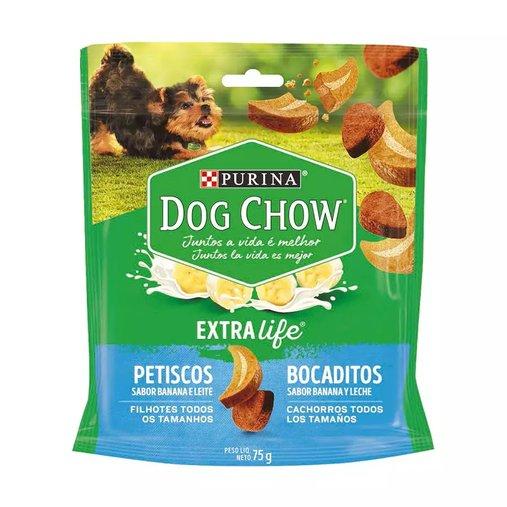 Biscoito Dog Chow Carinhos para Cães Filhotes Sabor Banana e Leite 75g