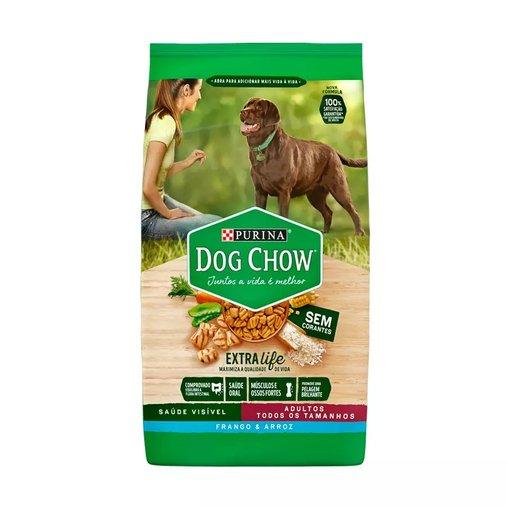 Ração Dog Chow para Cães Adultos Todas as Raças Sabor Frango e Arroz 15Kg