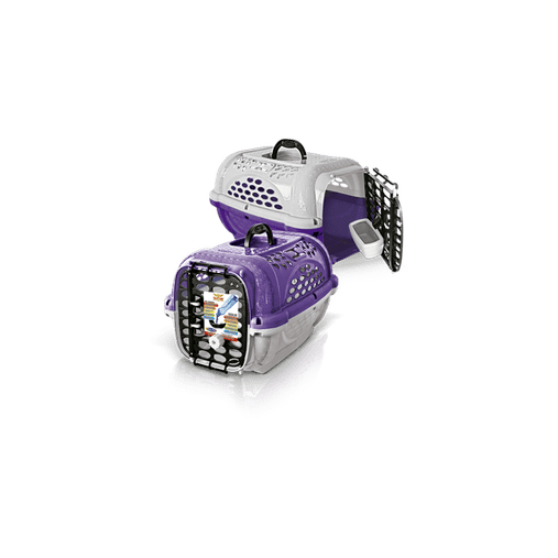 CAIXA TRANSPORTE PANTHER AIR/POP N 3 LILAS 428 PLAST PET