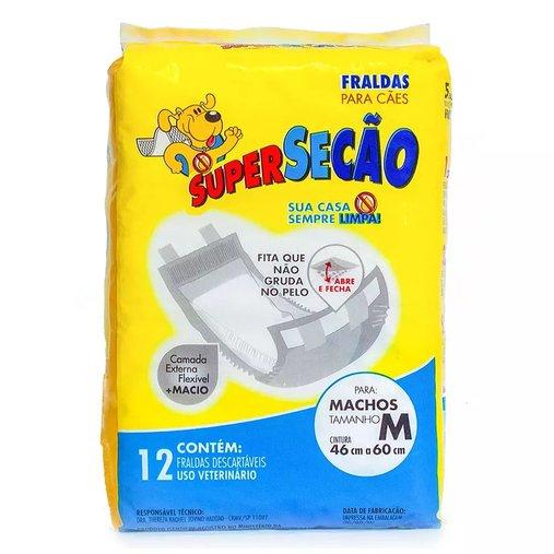 FRALDA SUPERSECAO MACHO P C/12