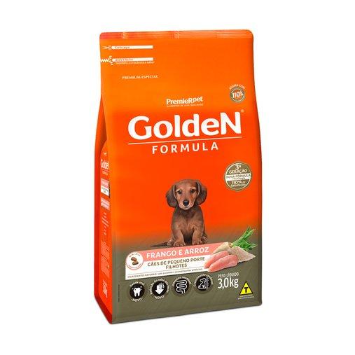 Ração Golden para Cães Filhotes Raças Pequenas Sabor Frango e Arroz 3Kg