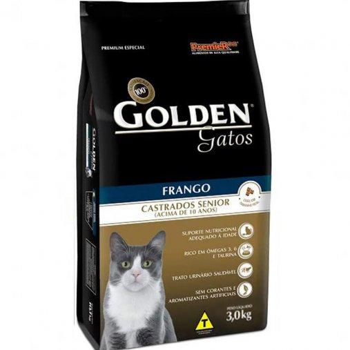 Ração Golden para Gatos Castrados Sênior Sabor Frango 1Kg