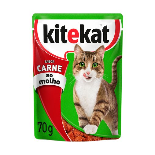 Sachê Kitekat para Gatos Sabor Carne ao Molho 70g