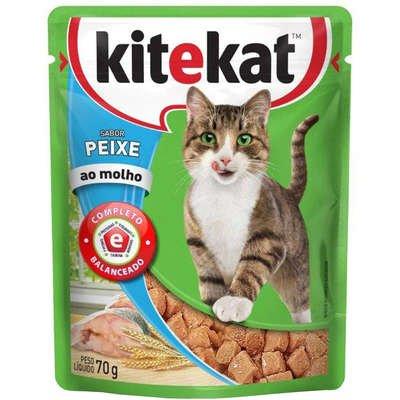 Sachê Kitekat para Gatos Sabor Peixe ao Molho 70g