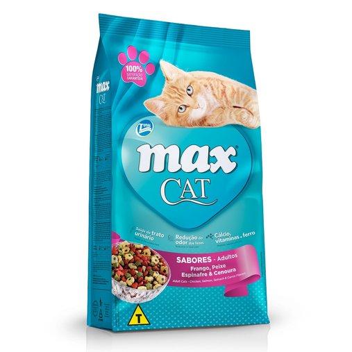 Ração Max Nuggets para Gatos Sabor Frango, Peixe, Espinafre e Cenoura 20Kg