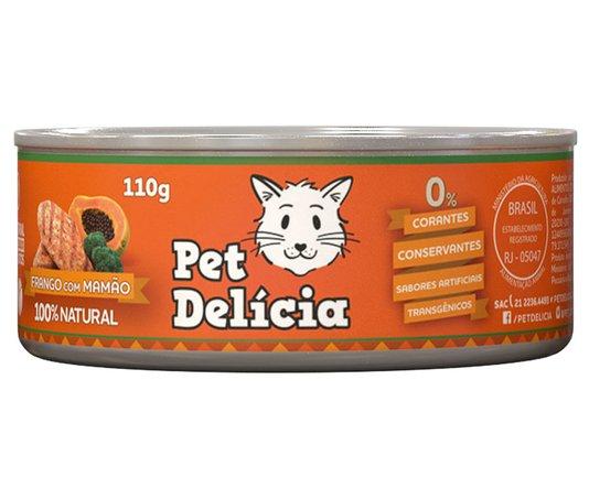 PET DELICIA GATO FRANGO COM MAMAO 110G***