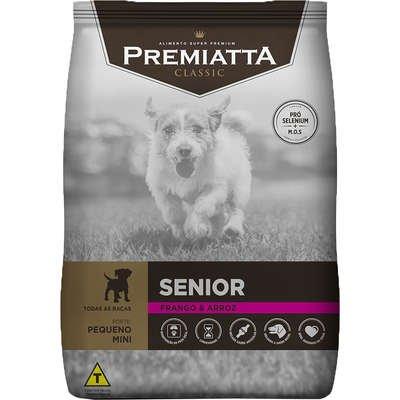 Ração Premiatta Classic para Cães Sênior Raças Pequenas Sabor Frango e Arroz 7,5Kg