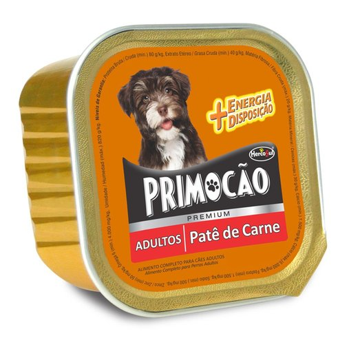 Pate Primoção Premium para Cães Adultos Sabor Carne 300g