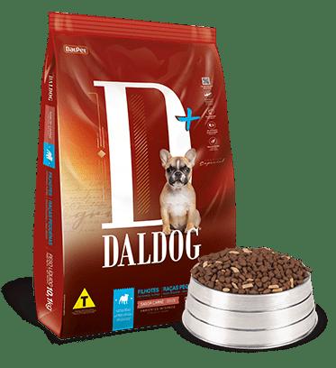 Ração Daldog D+ para Cães Filhotes Raças Pequenas Sabor Carne 10,1Kg